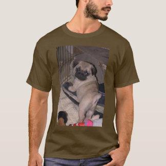 だれ私か。 パグ Tシャツ