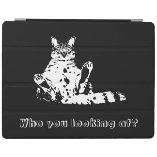 だれ見ているか。 おもしろいで気難しい猫 iPadスマートカバー