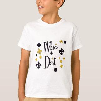 だれ黒及び金ゴールドかのDatのおもしろい Tシャツ
