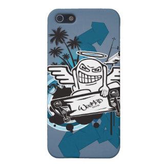 ちっぽけな天使のスケート選手iPhone4 iPhone SE/5/5sケース