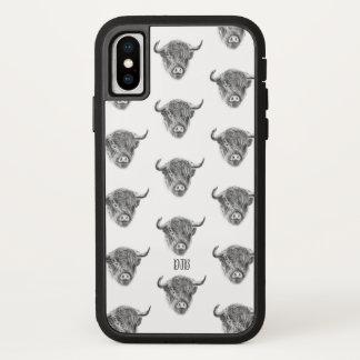 ちっぽけなStraggly高地牛(白い) iPhone X ケース