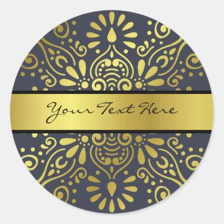 ちょうどあなたの一流の|ののどの金ゴールドホイルの曼荼羅を加えて下さい ラウンドシール