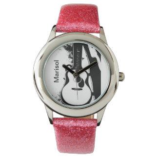 ちょうどカスタマイズ可能な場合のAcousicのギターのデザインで-! 腕時計