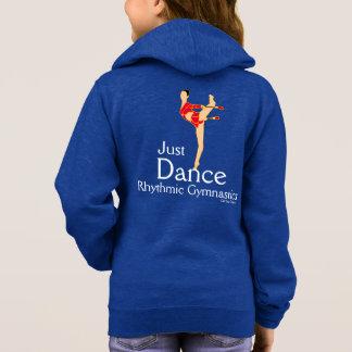 ちょうどダンスの女の子の新体操のフリースのジャケット パーカ