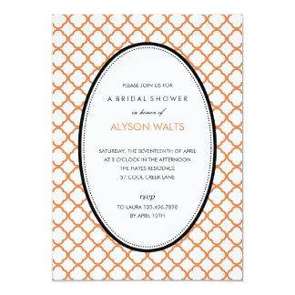 ちょうどモダンで一般的なパーティの招待状(オレンジ) 12.7 X 17.8 インビテーションカード