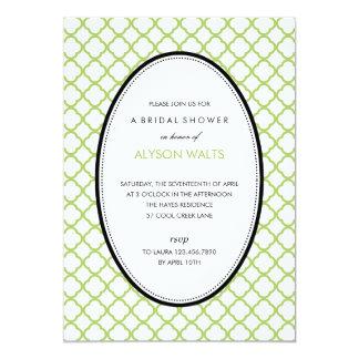ちょうどモダンで一般的なパーティの招待状(緑) 12.7 X 17.8 インビテーションカード