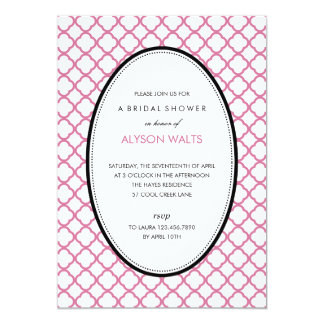 ちょうどモダンな概要のパーティの招待状 (Pink) 12.7 X 17.8 インビテーションカード