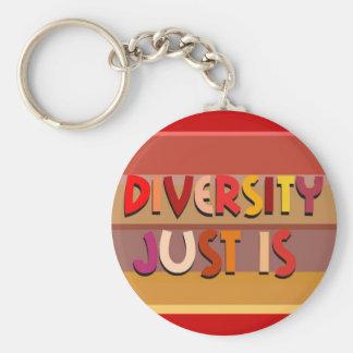ちょうど多様性は(ストライプ) Keychainです キーホルダー