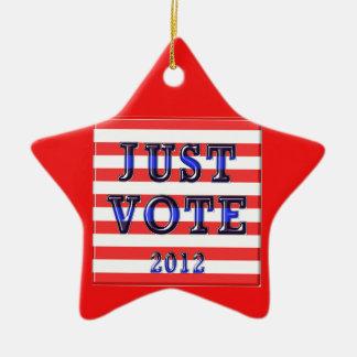ちょうど投票2012年を縞で飾ります セラミックオーナメント