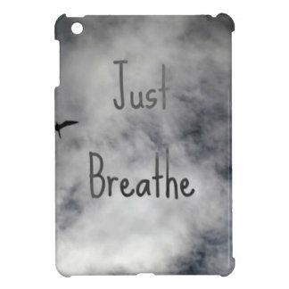 ちょうど曇り空の鳥の飛行を呼吸して下さい iPad MINIケース
