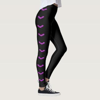ちょうど気の変な(紫色の)ハロウィン レギンス