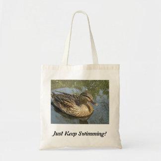 ちょうど水泳を保って下さい! トートバッグ