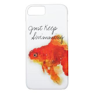 """""""ちょうど水泳""""の金魚のiPhoneの場合保って下さい iPhone 8/7ケース"""