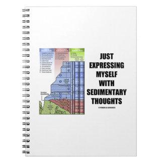 ちょうど沈澱物の思考との自分自身を表現すること ノートブック