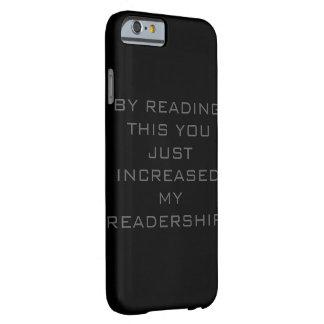 ちょうど私の読者層の電話箱を増加しました BARELY THERE iPhone 6 ケース