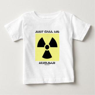 ちょうど私を核と電話して下さい(放射性警告標識) ベビーTシャツ