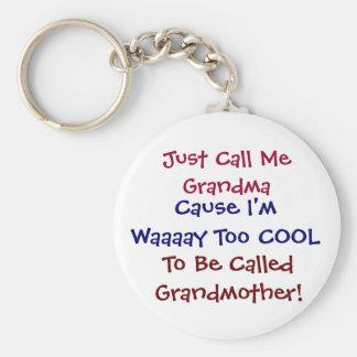 ちょうど私を祖母と涼しい祖母Keychain電話して下さい キーホルダー