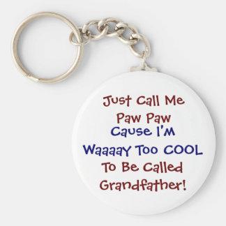 ちょうど私を足の足のカッコいいの祖父Keychainと電話して下さい キーホルダー
