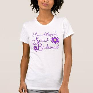 ちょうど紫色のデイジー Tシャツ