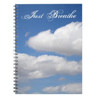 ちょうど美しい雲のノートを呼吸して下さい ノートブック