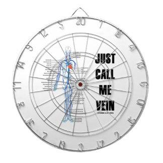 ちょうど電話して下さい私を静脈(解剖ユーモア)と ダーツボード
