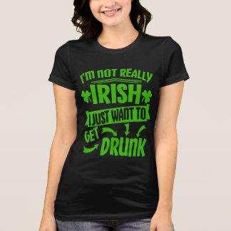ちょうど飲まれたSt paddys dayにおもしろいな引用文を得たいと思って下さい Tシャツ