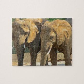 ちょうど2人の象の友人 ジグソーパズル
