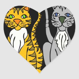 ちょうど2匹の無実猫… ハートシール