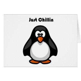 ちょうどChillinのペンギンの漫画 カード