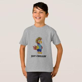 ちょうどChillinの島のオウムのTシャツ Tシャツ