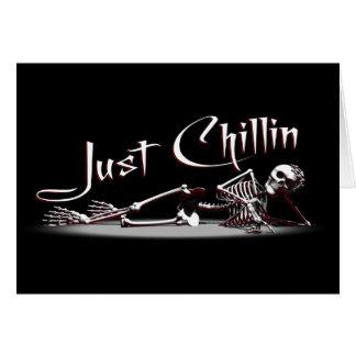 ちょうどChillinの骨組挨拶状 カード