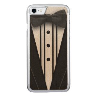 ちょうネクタイが付いている黒いタキシード CARVED iPhone 8/7 ケース