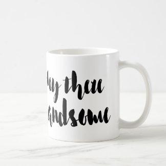 ちょっとそこにハンサムなマグ コーヒーマグカップ
