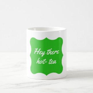 """""""ちょっとそこに熱茶""""マグの緑 コーヒーマグカップ"""