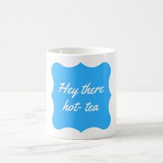"""""""ちょっとそこに熱茶""""マグの青 コーヒーマグカップ"""