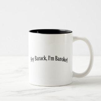 ちょっとバラク、私はBarokeです! ツートーンマグカップ