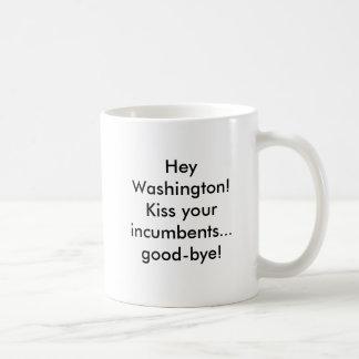 ちょっとワシントン州! あなたの在職者に…さようなら接吻して下さい! コーヒーマグカップ
