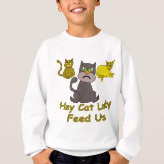 ちょっと猫の女性 スウェットシャツ