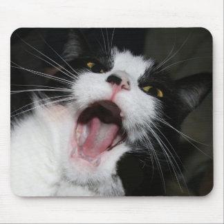ちょっと私はあなたに!話しています!! 熱狂するな猫 マウスパッド
