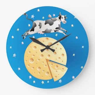 ちょっと騙しましたり、脅えます月の時計を飛び越されて騙して下さい ラージ壁時計