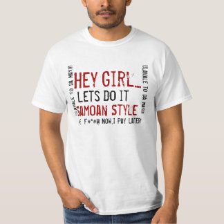 ちょっと、女の子は…、それ、Samoan、スタイル、#*#@…割り当てます Tシャツ