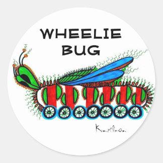 ちょっと' WHEELIEの虫のステッカーのように ラウンドシール