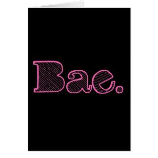 ちょっとBae。 ガールフレンドのボーイフレンドの俗語 カード