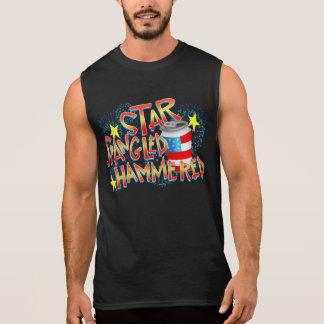 ちりばめられる7月第4槌で打たれる星 袖なしシャツ