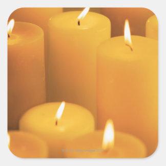 つけられた蝋燭の静物画 スクエアシール