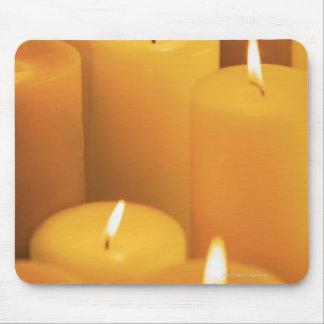 つけられた蝋燭の静物画 マウスパッド