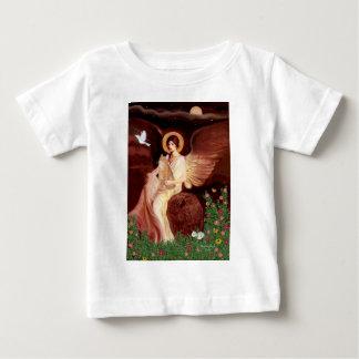 つけられていた天使-オレンジ虎猫のSH猫46 ベビーTシャツ