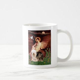 つけられていた天使-古い英語(立つこと) コーヒーマグカップ