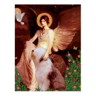 つけられていた天使-古い英語#1 ポストカード