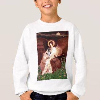 つけられていた天使-滑らかなフォックステリア犬 スウェットシャツ